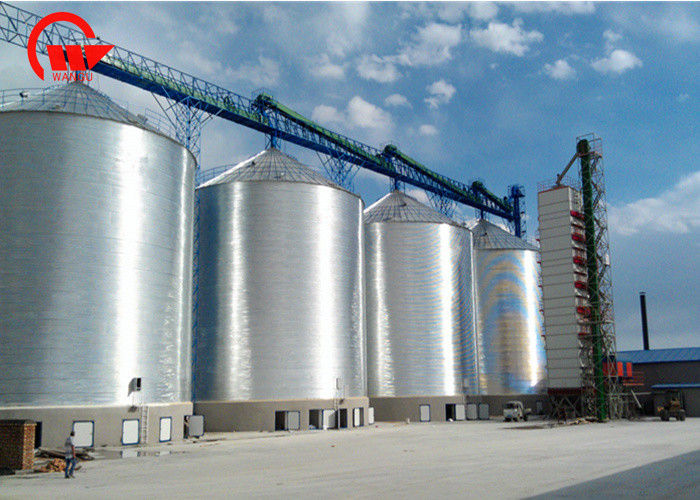 12.8 M Insulated Sealed Steel Grain Silo For Flour Sotrage All Kinds Of Grain